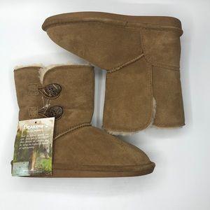 NWT BearPaw Elena Sheep Leather Suede Booties